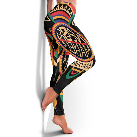 Africa Women's Leggings - Nelson Mandela