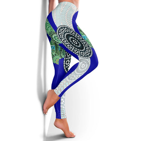 1stAustralia Leggings - Flag of Torres Strait Islander