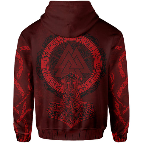 Image of Viking Zip Hoodie - Viking Warrior