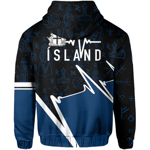 Image of Iceland Zip Hoodie - Ísland In My Heartbeat