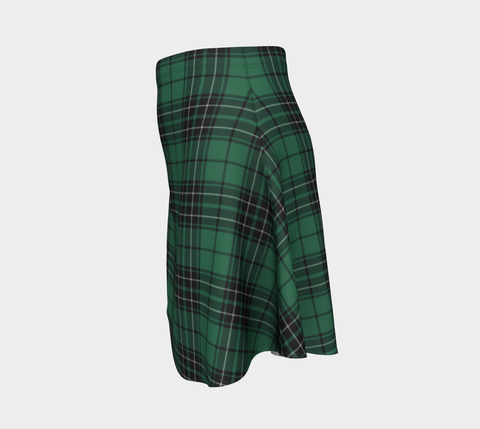 Image of Tartan Skirt - Maclean Hunting Ancient Women Flared Skirt A9 |Clothing| 1sttheworld