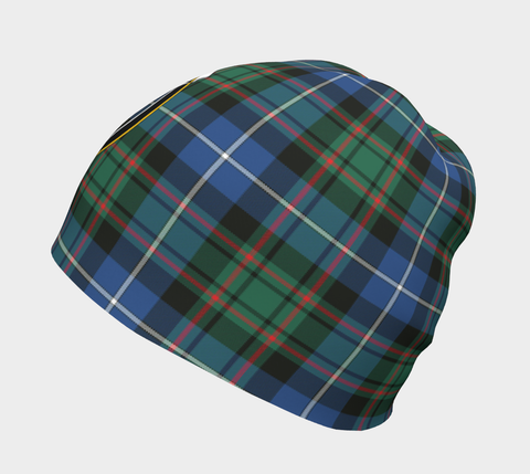 Image of MacRae Hunting Ancient Tartan Clan Crest Beanie Hj4