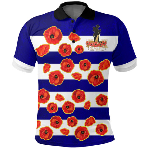 Australia Polo Shirt Lest We Forget Remembrance Day, Poppy A7