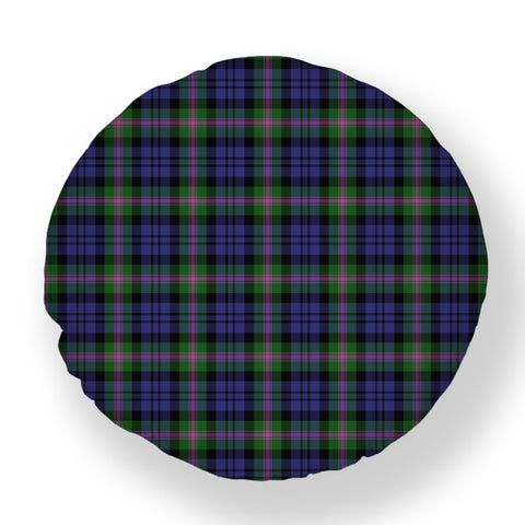 Baird Modern Tartan Throw Pillow Cover - Round | 1sttheworld.com