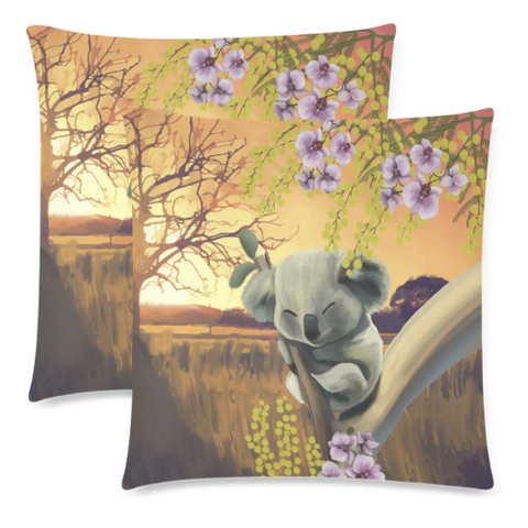 Australia Pillow Covers - Koala Mimosa H5