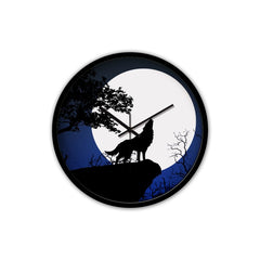 Wolf under the moon wall clock K2