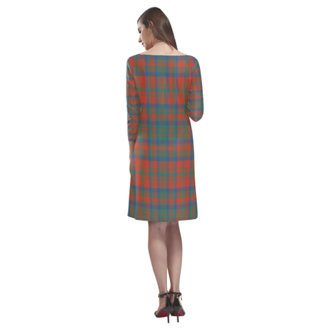 Matheson Ancient Tartan Dress - Rhea Loose Round Neck Dress NN5