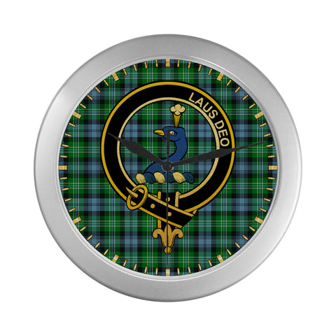 Image of ARBUTHNOT CLAN TARTAN WALL CLOCK A9