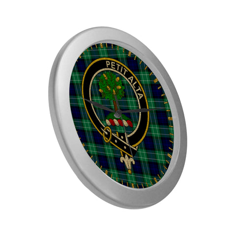 Image of ABERCROMBIE CLAN TARTAN WALL CLOCK A9