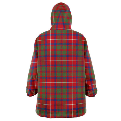 Shaw Red Modern Snug Hoodie - Unisex Tartan Plaid Back
