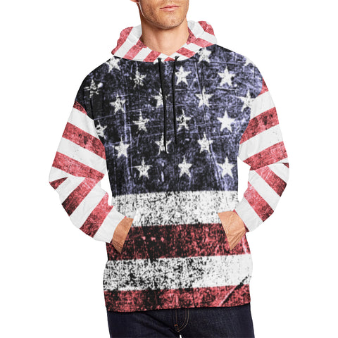 UNITED STATES FLAG  ALL OVER PRINT HOODIE A1