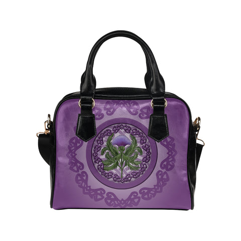 Thistle Scottish Purple Shoulder Handbag