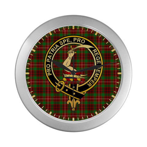Image of AINSLIE CLAN TARTAN WALL CLOCK A9