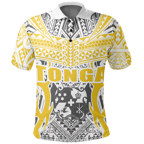 Tonga Polo Shirt - Kingdom of Tonga - Gold Ver J0