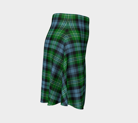 Tartan Skirt - Arbuthnot Ancient Women Flared Skirt A9 |Clothing| 1sttheworld