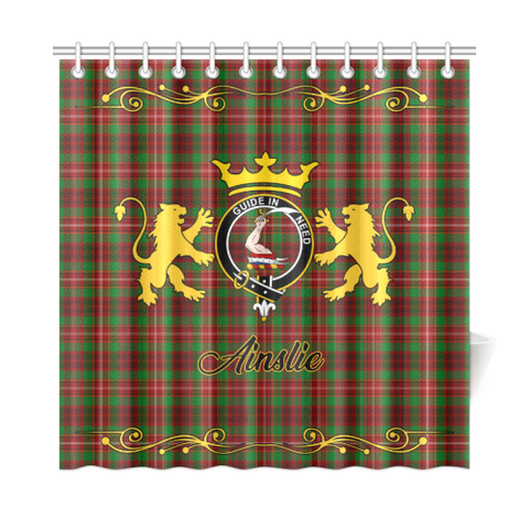 Tartan Shower Curtain - Ainslie Clan | Scottish Home Set | Over 300 Clans