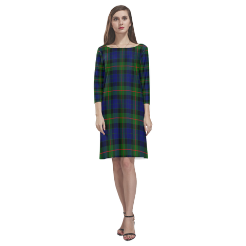 Gunn Modern Tartan Dress - Rhea Loose Round Neck Dress NN5