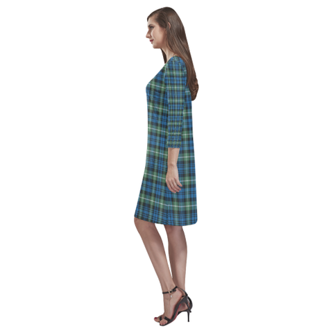 Lamont Ancient Tartan Dress - Rhea Loose Round Neck Dress NN5