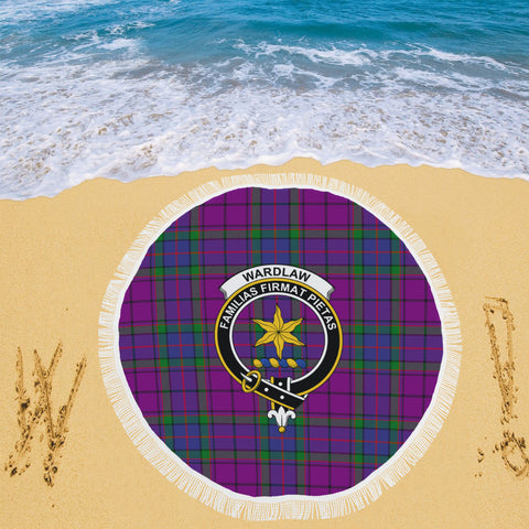 WARDLAW CLAN BADGE TARTAN BEACH BLANKET th8