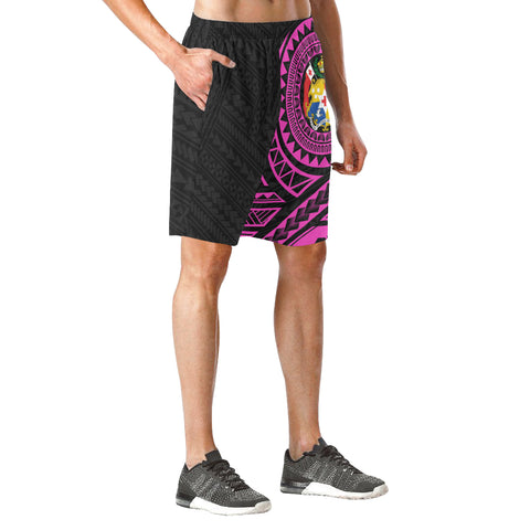 Image of Tonga Polynesian Beach Shorts Pink | Polynesian Clothing | Hot Sale
