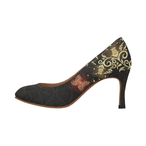 Scotland High Heels Scottish Golden Thistle A7 |Footwear| 1sttheworld