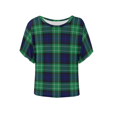 Image of Abercrombie  Tartan T Shirt - Women's Batwing-Sleeved Blouse K7