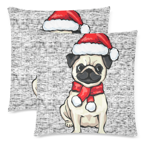 Pug Christmas Zippered Pillow H6