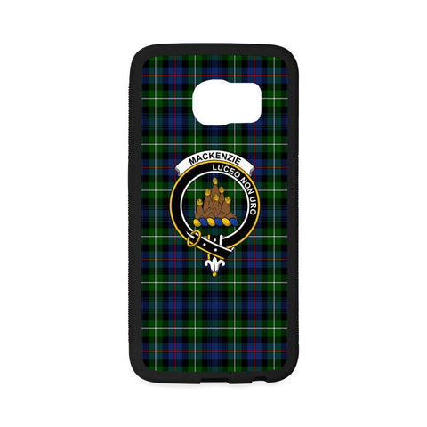 Mackenzie Tartan Clan Badge Rubber Phone Case HJ4
