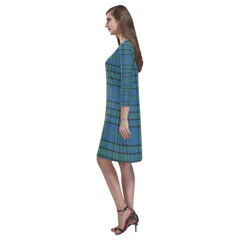 Matheson Hunting Ancient Tartan Dress - Rhea Loose Round Neck Dress - BN