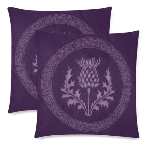 Image of Scotland Pillow Case - Purple Thistle Zippered Pillow | Hot Sale