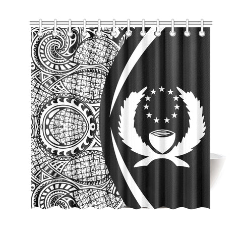 Image of Pohnpei Micronesian Shower Curtain - Circle Style