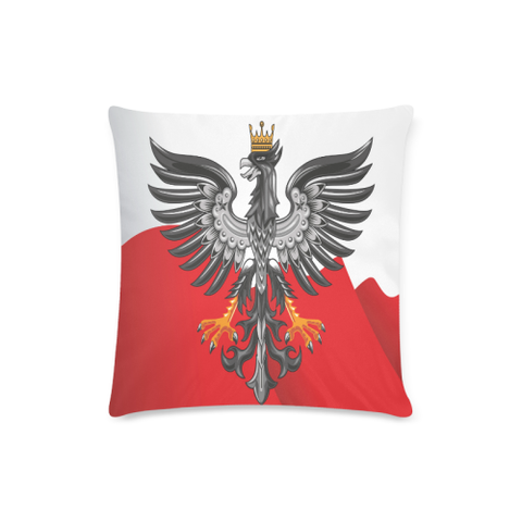 Poland Coat Of Arm Zippered Pillow Cover H0