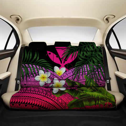 Kanaka Maoli (Hawaiian) Back Car Seat Covers - Polynesian Plumeria Banana Leaves Pink A02