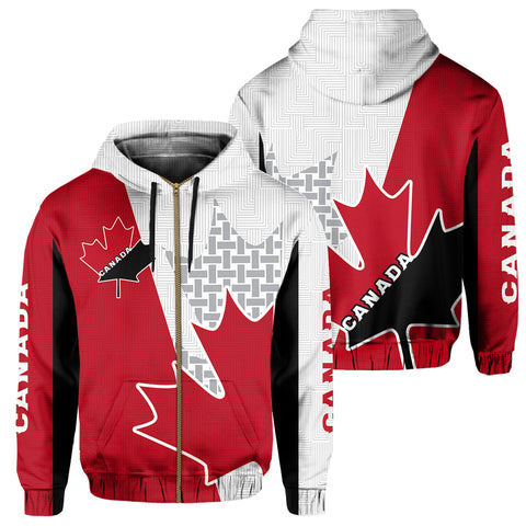 Canada Zip Hoodie - Maple Leaf Special | Clothing | 1sttheworld