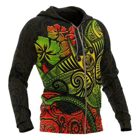 Image of Hawaii Zip-up Hoodie - Polynesian Manta Ray