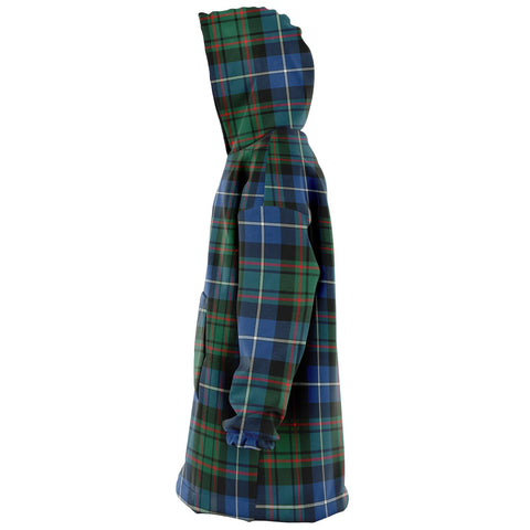 MacRae Hunting Ancient Snug Hoodie - Unisex Tartan Plaid Left