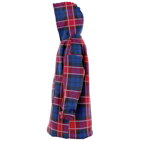 Graham of Menteith Red Snug Hoodie - Unisex Tartan Plaid Left