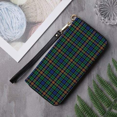 Image of ALLISON TARTAN ZIPPER WALLET HJ4