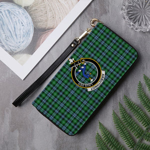 ARBUTHNOTT TARTAN CLAN BADGE ZIPPER WALLET HJ4