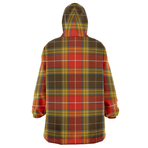 Buchanan Old Set Weathered Snug Hoodie - Unisex Tartan Plaid Back