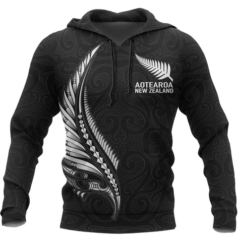 Image of Aotearoa New Zealand - Maori Fern Tattoo Hoodie | Clothing, Apparel, Women, Men