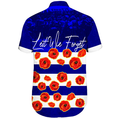 Australia Short Sleeve Shirt Lest We Forget Remembrance Day, Poppy A7