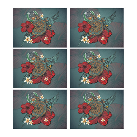 Pohnpei Placemat - Blue Turtle Tribal A02