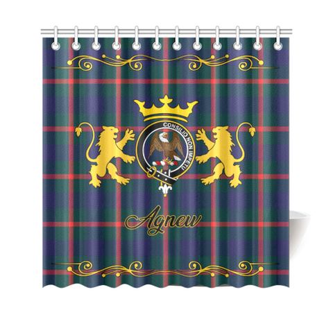 Tartan Shower Curtain - Agnew Clan | Scottish Home Set | Over 300 Clans