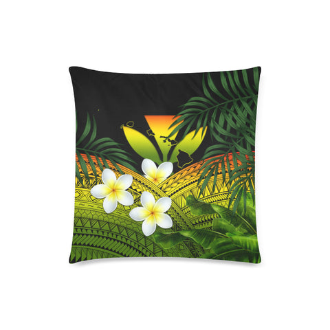 Kanaka Maoli (Hawaiian) Pillow Cases, Polynesian Plumeria Banana Leaves Reggae A02