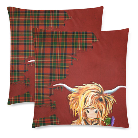 Thistle Highland Cow Royal Pillow Hj4