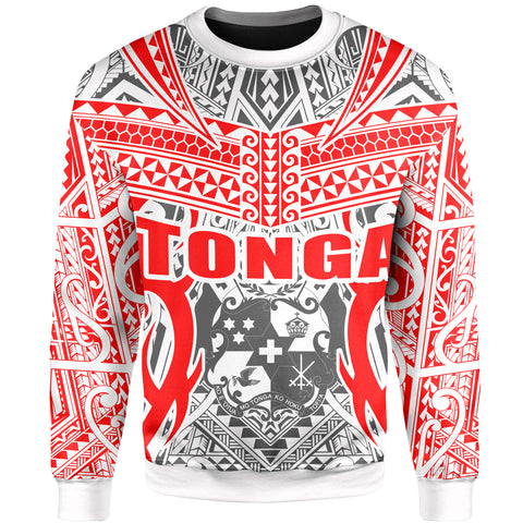 Image of Tonga Sweatshirt - Kingdom of Tonga - White Ver J0