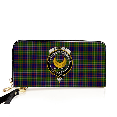 ARNOTT TARTAN CLAN BADGE ZIPPER WALLET HJ4