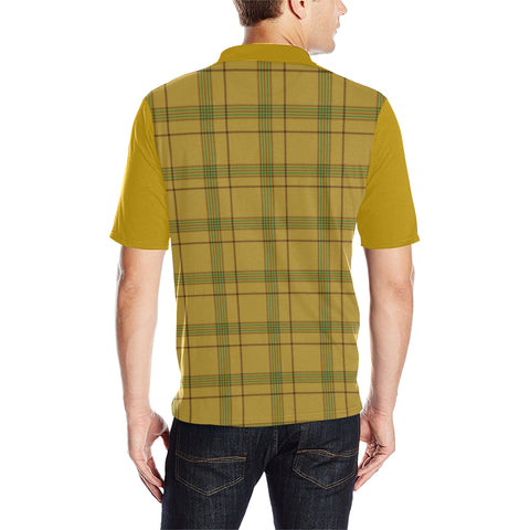 Image of Houston Clans Tartan Polo Shirt - Sleeve Color