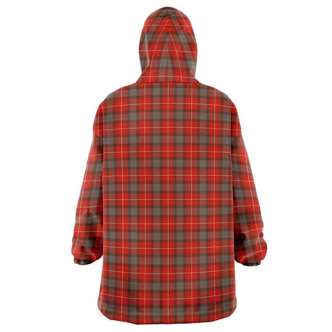 Fraser Weathered Snug Hoodie - Unisex Tartan Plaid Back